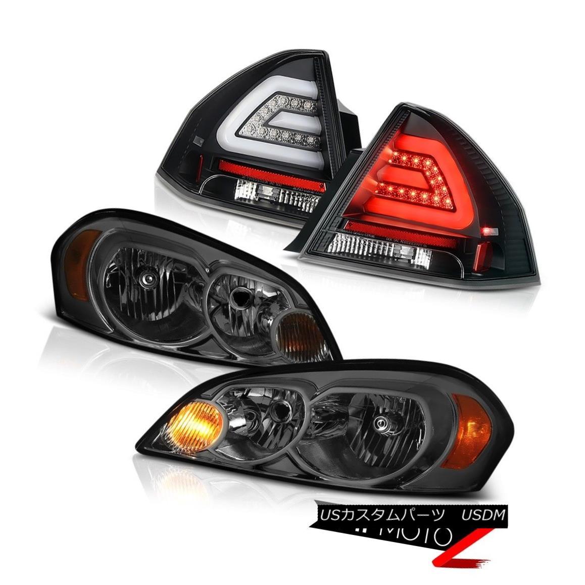 ヘッドライト 2006-2013 CHEVY IMPALA LT Raven black rear brake lamps titanium smoke headlights 2006-2013 CHEVY IMPALA LTレッド・ブラックリア・ブレーキ・ランプチタン・スモーク・ヘッドライト