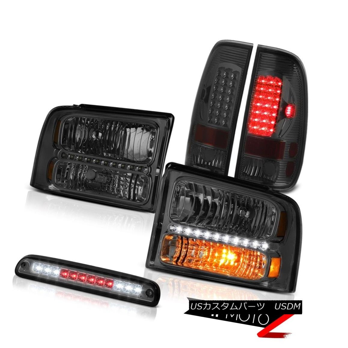 ヘッドライト 2005 2006 2007 F450 F550 PAIR Smoke Headlights Tail Light LED Tinted Third Brake 2005 2006 2007 F450 F550 PAIRスモークヘッドライトテールライトLED Tinted Third Brake