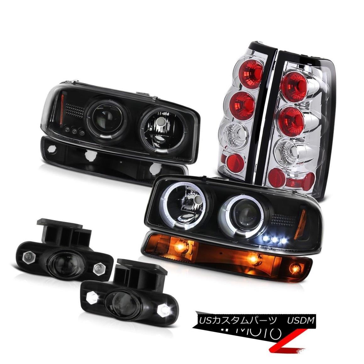ヘッドライト 99-02 Sierra SLE Dark smoke fog lamps chrome rear brake turn signal Headlamps 99-02シエラSLEダークスモークフォグランプクロームリアブレーキターンシグナルヘッドランプ