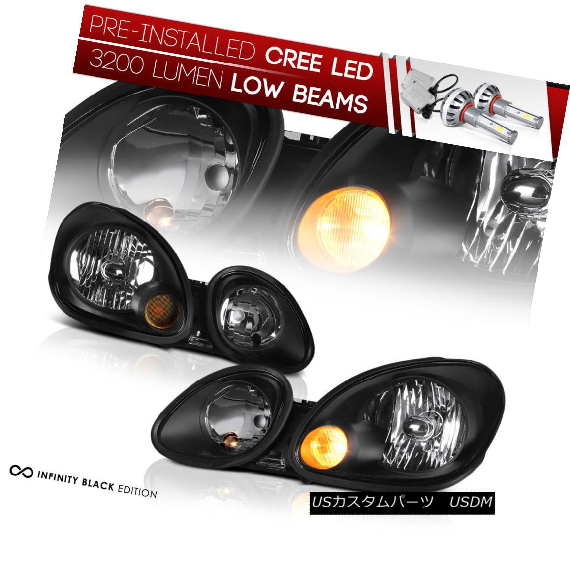 ヘッドライト !PRE-INSTALLED LED LOW BEAM! 1998-2005 Lexus Aristo 2JZ JDM Black Front Headlamp !プレインストールLEDロービーム! 1998-2005レクサスAristo 2JZ JDMブラックフロントヘッドランプ
