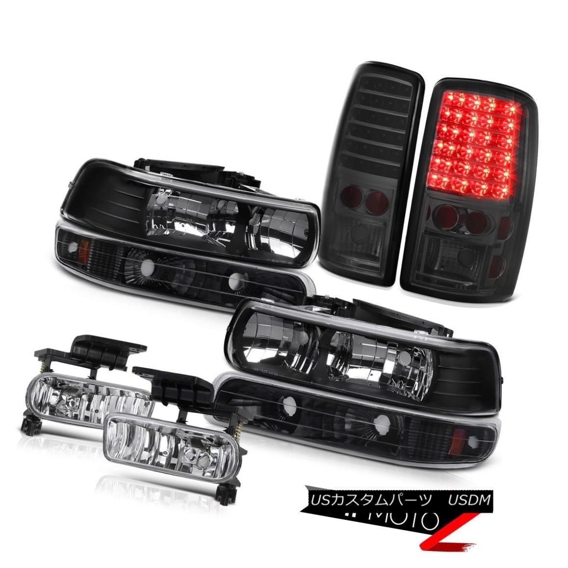 ヘッドライト Jet Black Headlights Onyx Bumper Signal Tail Lights Euro Fog 00-06 Suburban Z71 ジェットブラックヘッドライトオニキスバンパー信号テールライトユーロフォグ00-06郊外Z71