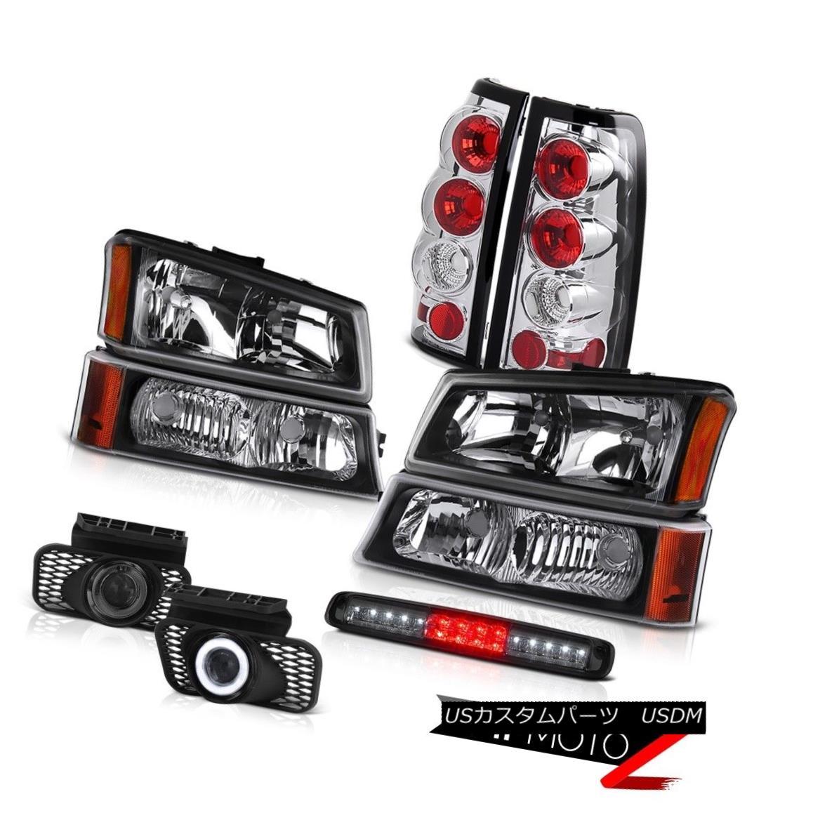 ヘッドライト 03-06 Silverado Parking Light Smoked Roof Brake Headlamps Foglights Taillights 03-06 Silveradoパーキングライトスモークルーフブレーキヘッドランプフォグライトテールライト