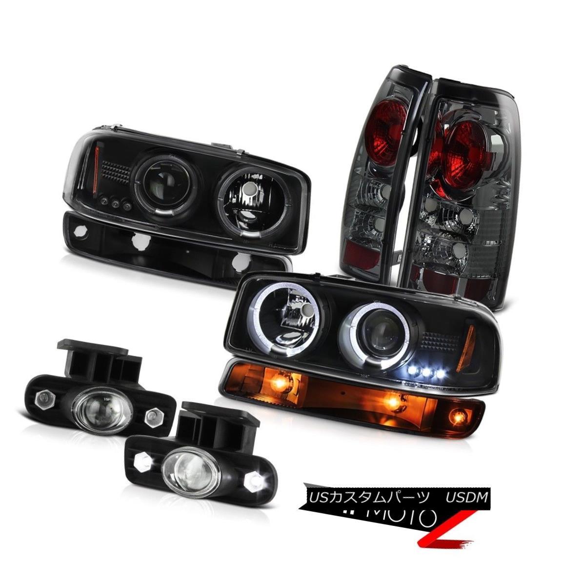 ヘッドライト 99-02 Sierra SL Chrome fog lamps rear brake lights black turn signal headlamps 99-02 Sierra SLクロームフォグランプリアブレーキライトブラックターンシグナルヘッドランプ