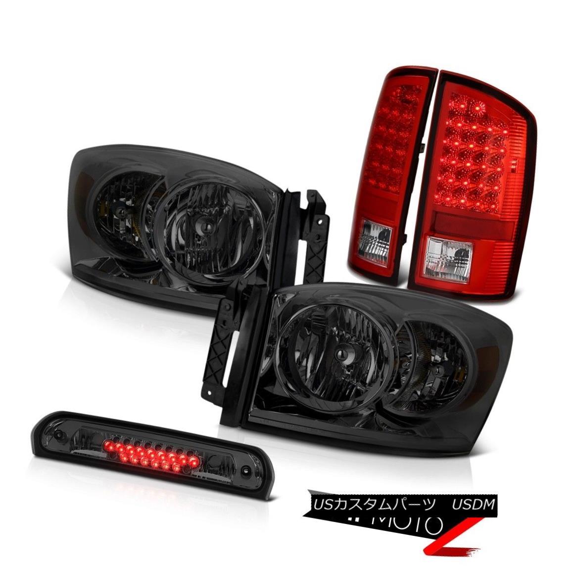 ヘッドライト Tinted Crystal Headlamps LED Signal Taillamps Third Brake Cargo 07 08 Ram Hemi ティンテッドクリスタルヘッドランプLEDシグナルタイヤランプ第3ブレーキカーゴ07 08ラムヘミ