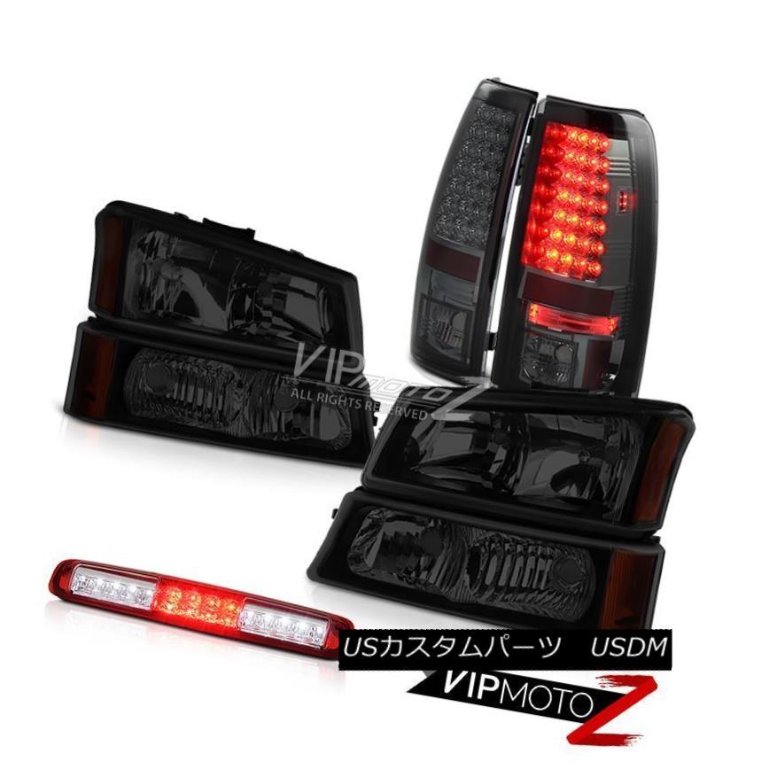 ヘッドライト 03-06 Silverado Headlamps Red Clear Roof Cab Light Smoked Tail Brake Lights LED 03-06 Silveradoヘッドランプレッドクリア屋根キャブライトスモークテールブレーキライトLED
