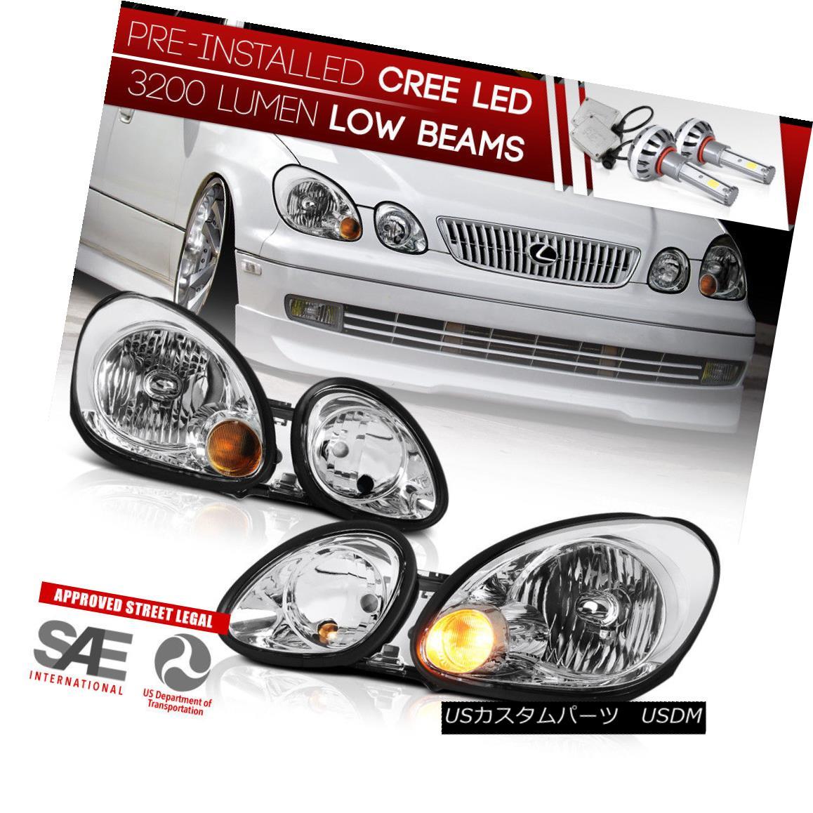 ヘッドライト Built-In LED Low Beam 1998-2005 Lexus GS300 GS400 GS430 FACTORY STYLE Headlights 内蔵LED低ビーム1998-2005レクサスGS300 GS400 GS430ファクトリースタイルヘッドライト