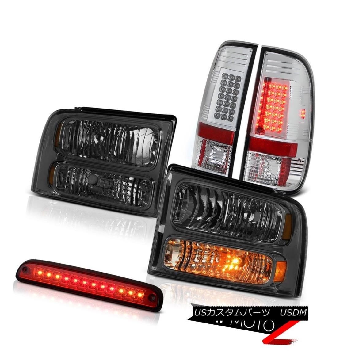 ヘッドライト 2005 2006 2007 F250 FX4 Smoke Headlights Brake Lamps Taillights Wine Red 3rd LED 2005 2006 2007 F250 FX4スモークヘッドライトブレーキランプテールライトワインレッド第3 LED