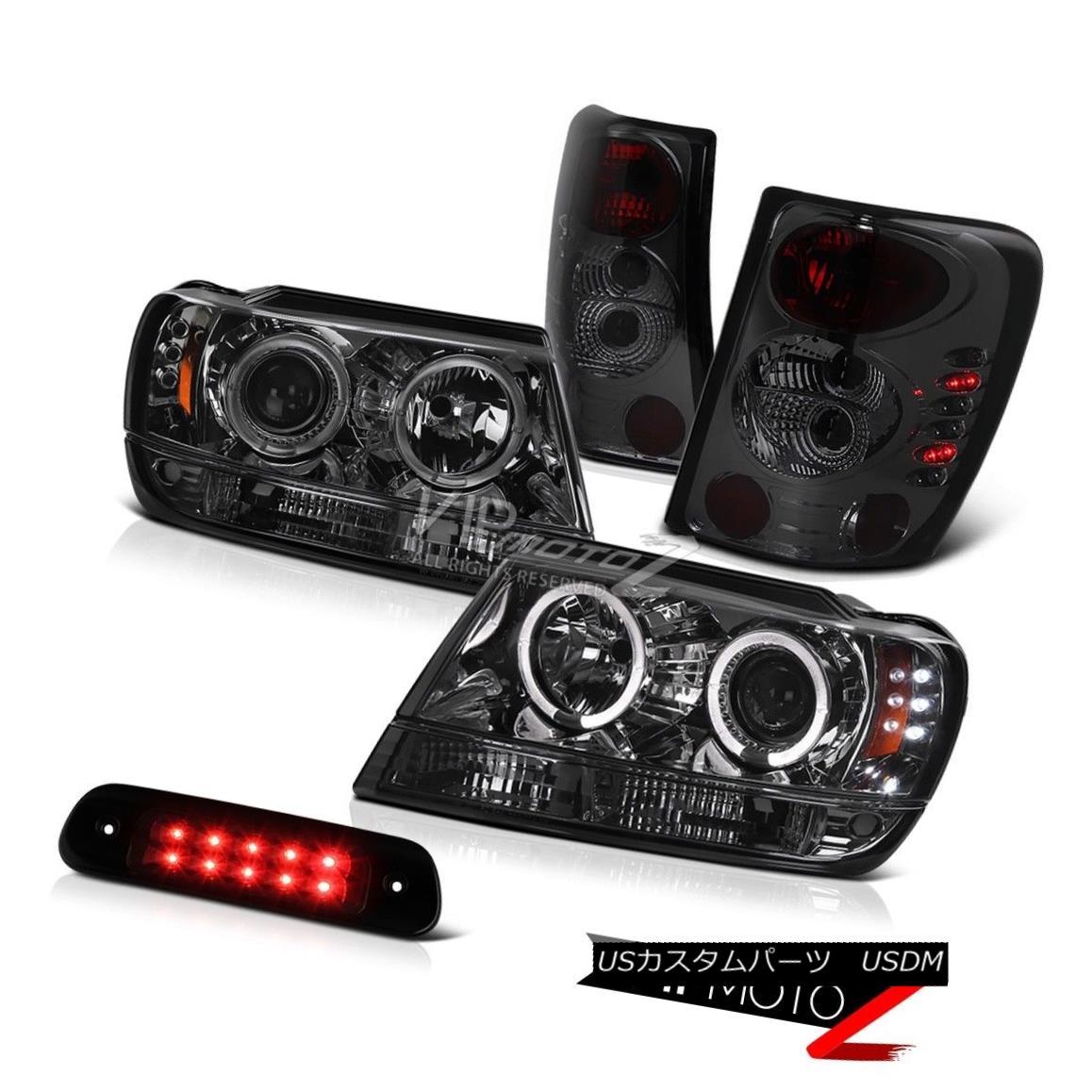 ヘッドライト 99-04 Jeep Grand Cherokee 4X4 Black Roof Cab Lamp Taillamps Headlights LED Bk 99-04ジープグランドチェロキー4X4ブラックルーフキャブランプトライアングルヘッドライトLED Bk