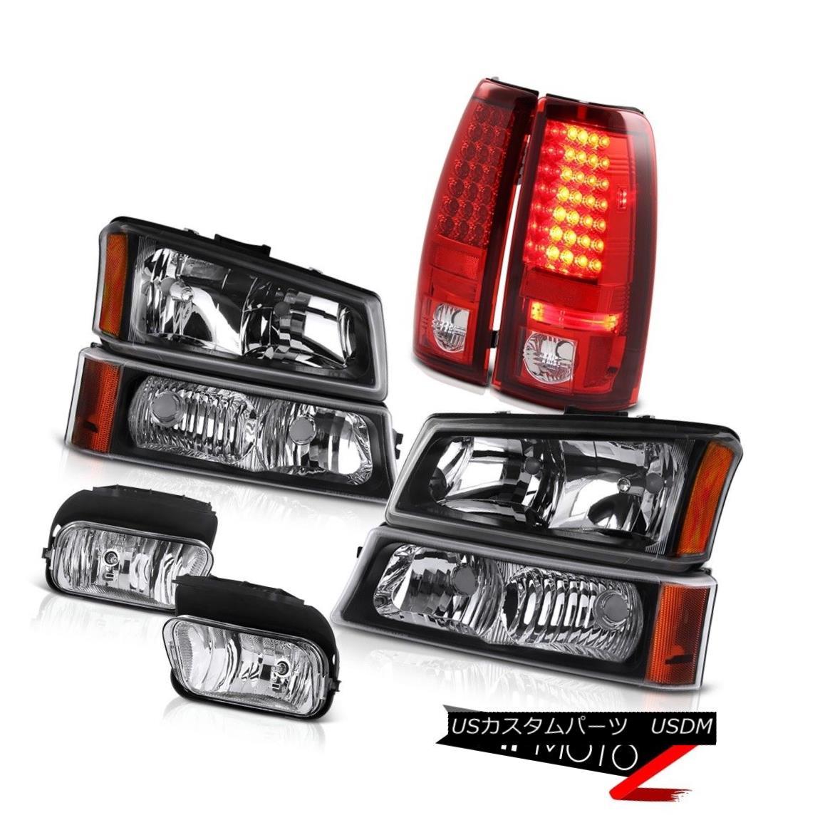 ヘッドライト 03 04 05 06 Silverado Left Right Headlights Crystal Bumper Lamp Brake Taillights 03 04 05 06 Silverado左ライトヘッドライトクリスタルバンパーランプブレーキテールライト