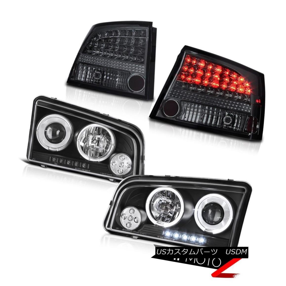 ヘッドライト 2009 2010 Charger 3.5L LED Infinity Black Projector Headlights Dark Tail Lights 2009 2010充電器3.5L LEDインフィニティブラックプロジェクターヘッドライトダークテールライト
