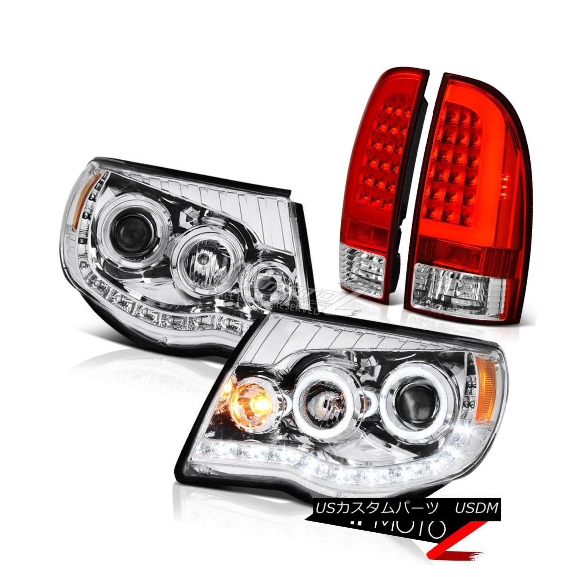 ヘッドライト 2005-2011 Toyota Tacoma Bloody Red Tail Euro Clear Head Lamps Replacement Pair 2005-2011 Toyota Tacoma Bloody Red Tailユーロクリアヘッドランプ交換ペア