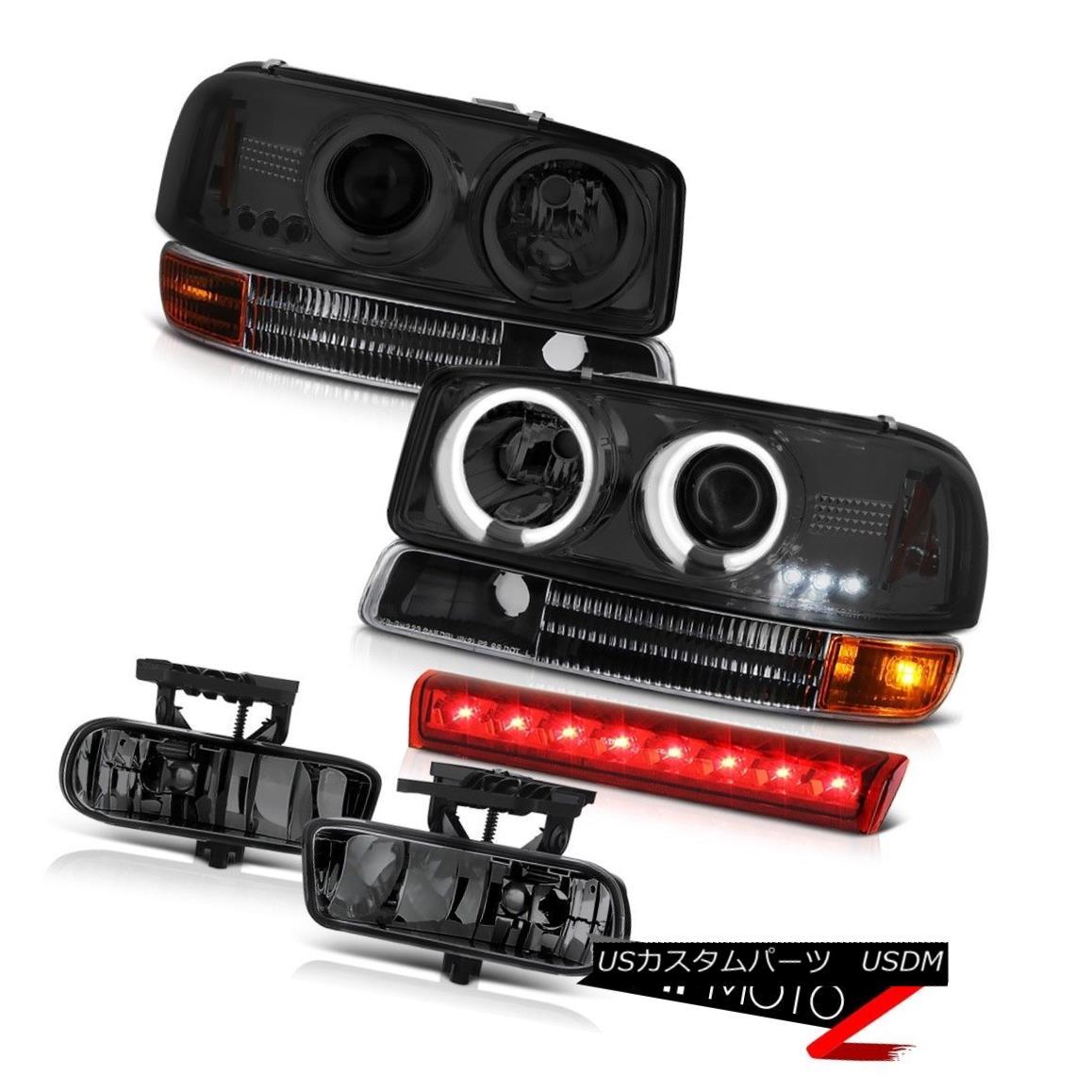 ヘッドライト 2000-2006 Yukon CCFL Angel Eye Headlights Signal Bumper Fog Lamp Cargo Brake LED 2000-2006ユーコンCCFLエンジェルアイヘッドライト信号バンパーフォグランプカーゴブレーキLED