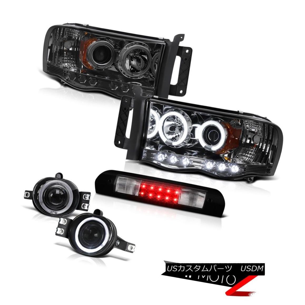 ヘッドライト Smoke CCFL Halo Headlamps Projector Euro Fog Roof Brake LED 02 03 04 05 Ram V6 煙CCFLハローヘッドランププロジェクターユーロフォグ屋根ブレーキLED 02 03 04 05 Ram V6