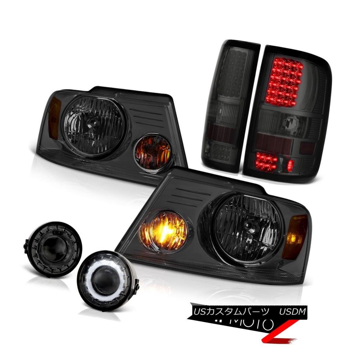 ヘッドライト Smoke Headlight LED Tail Light Projector Angel Eye Foglight 2006-2008 F150 Truck 煙ヘッドライトLEDテールライトプロジェクター天使の目Foglight 2006-2008 F150トラック