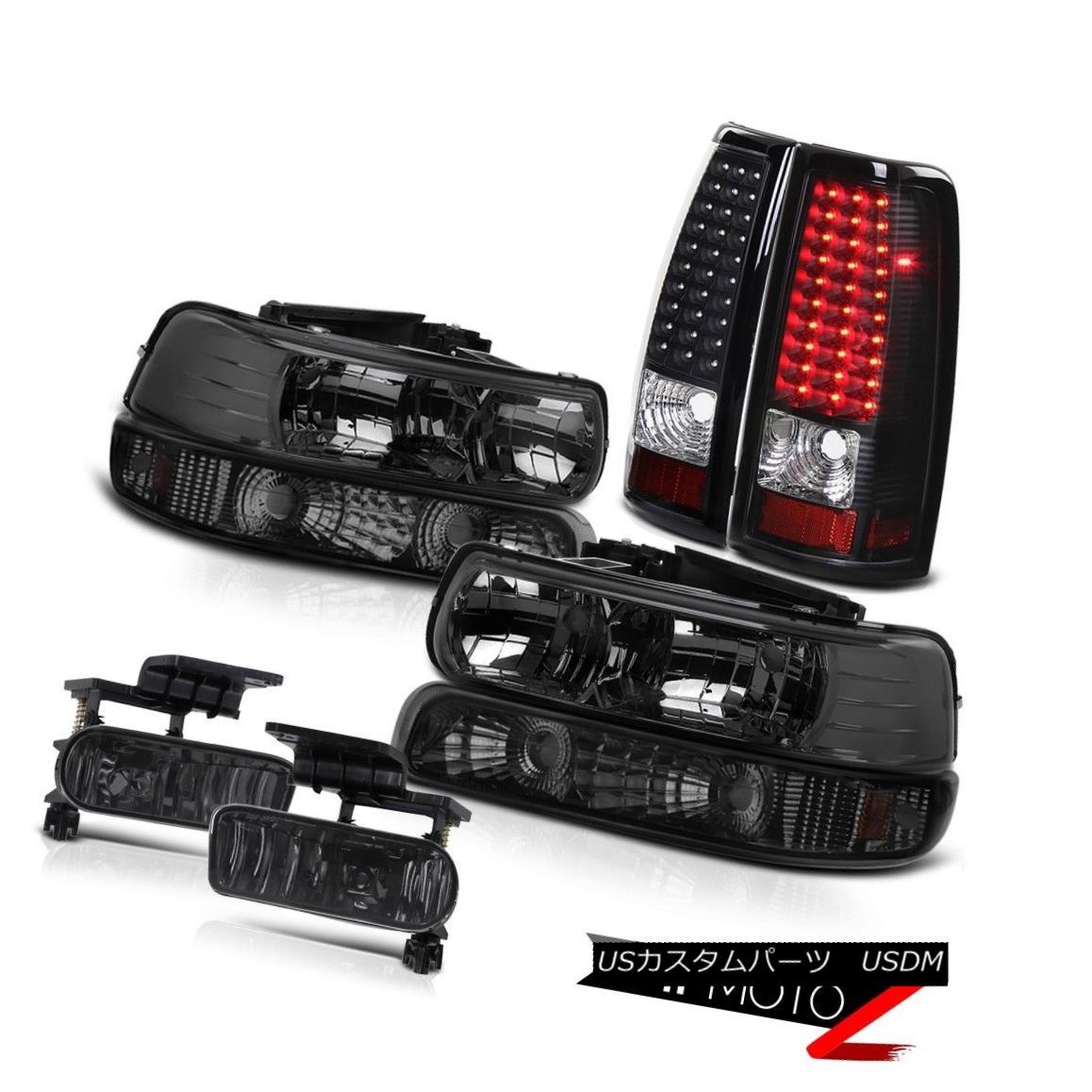 ヘッドライト 1999-2002 Chevy Silverado SMOKE 6PC Headlights+Bumpers+Foglights+LED Tail Lights 1999-2002 Chevy Silverado SMOKE 6PCヘッドライト+バーン pers +フォグライト + LEDテールライト