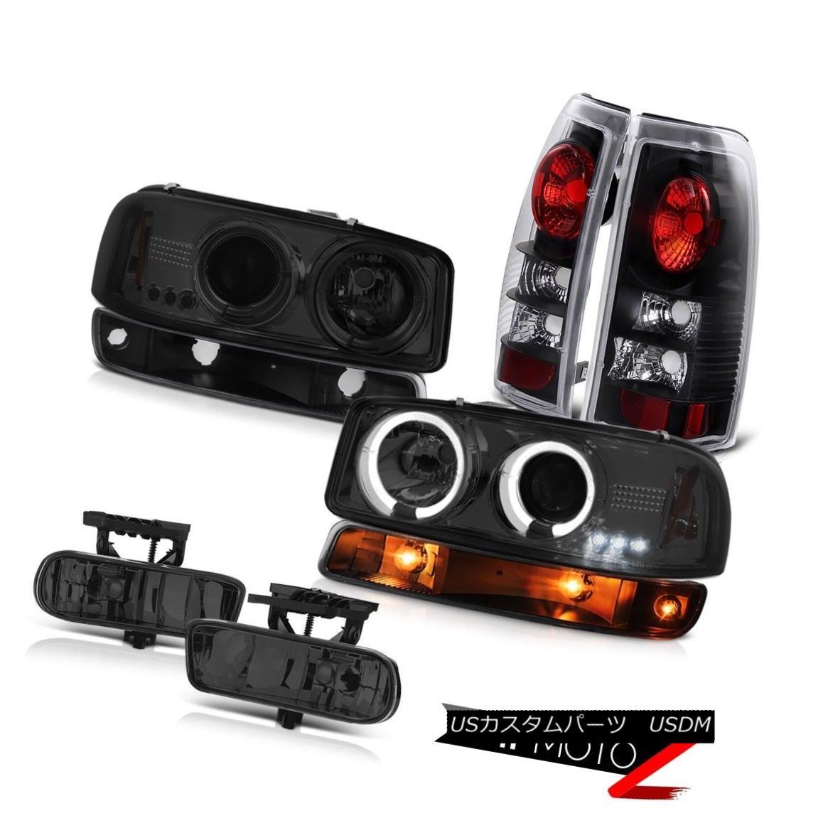 ヘッドライト 99 00 01 02 Sierra SLE Foglights matte black taillamps bumper light headlights 99 00 01 02 Sierra SLE Foglightsマットブラックテールライトバンパーライトヘッドライト