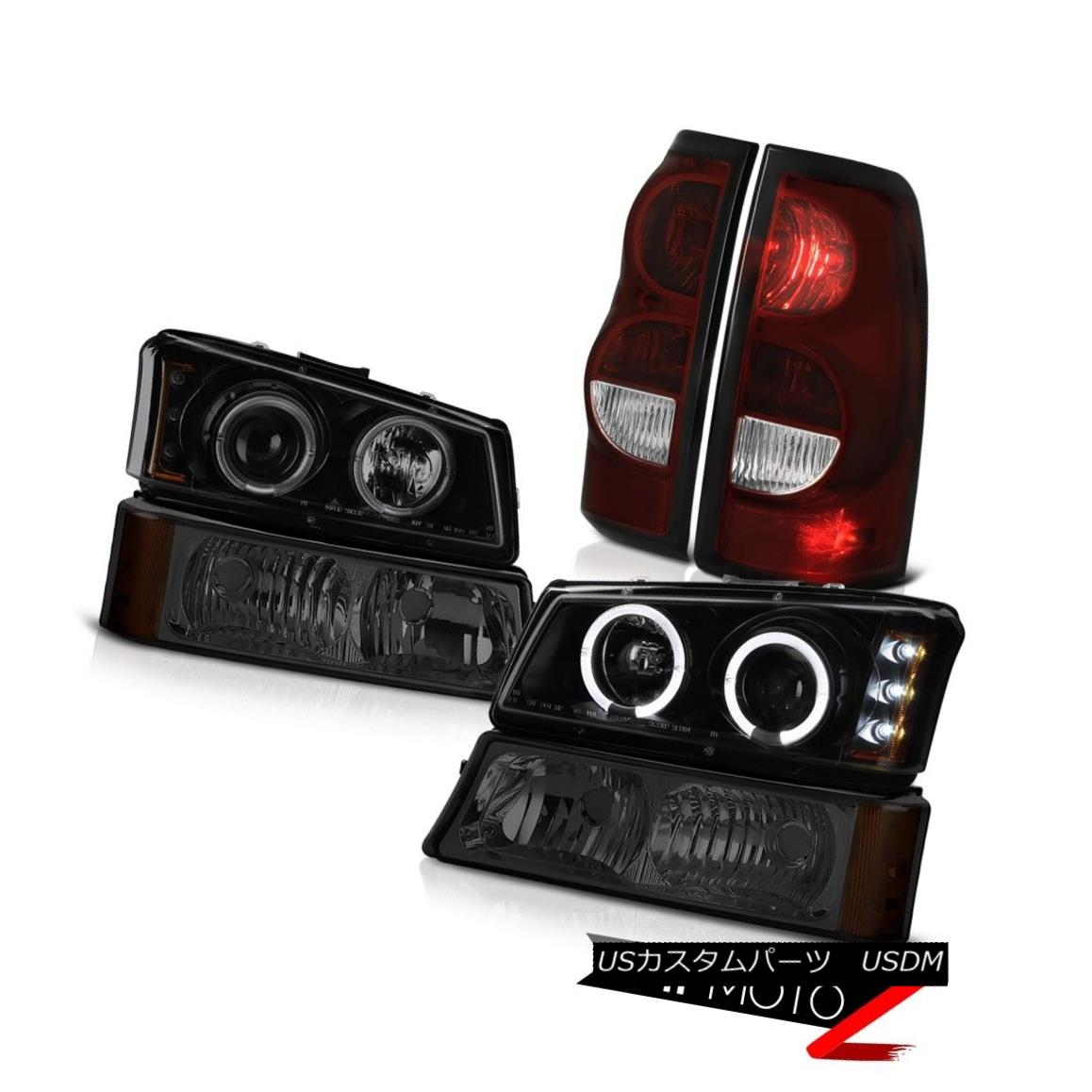 ヘッドライト 03 04 05 06 Chevy Silverado 1500 Red Smoke Taillights Parking Light Headlamps 03 04 05 06 Chevy Silverado 1500レッド・スモーク・テイルライト・パーキングライトヘッドランプ