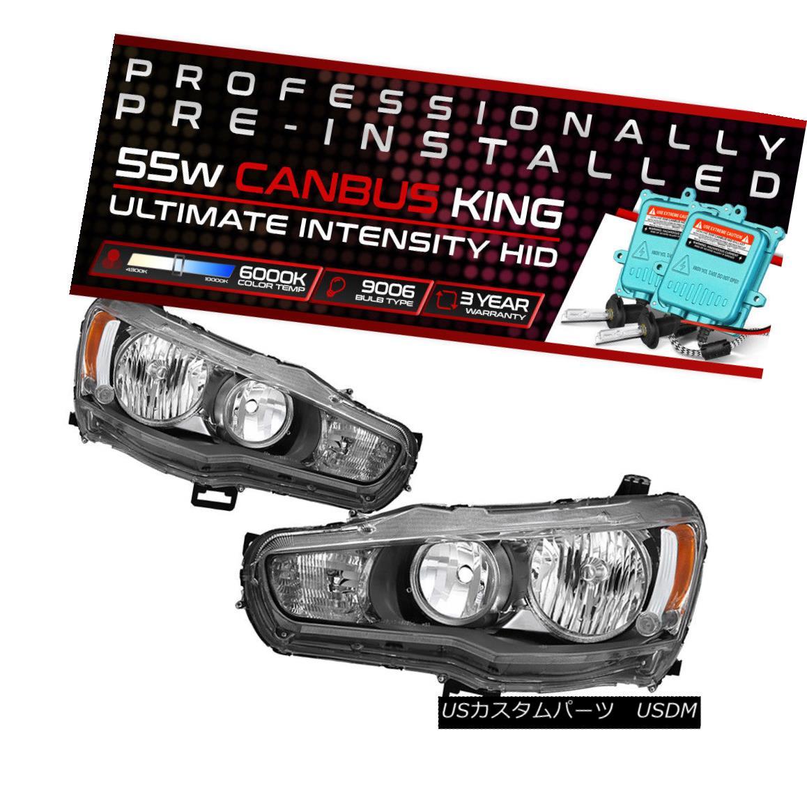 ヘッドライト 08-17 Mitsubishi Lancer GTS EVO {FACTORY} Headlight