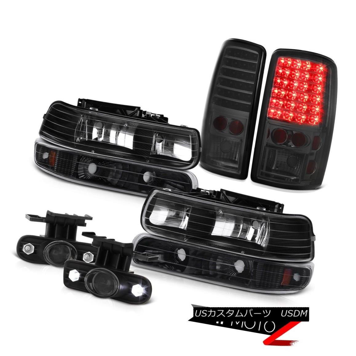 ヘッドライト 00 01 02 03 04 05 06 Tahoe L+R Black Headlamps Smoke LED Taillights Tinted Fog 00 01 02 03 04 05 06タホL + RブラックヘッドランプスモークLED茶色茶色の霧