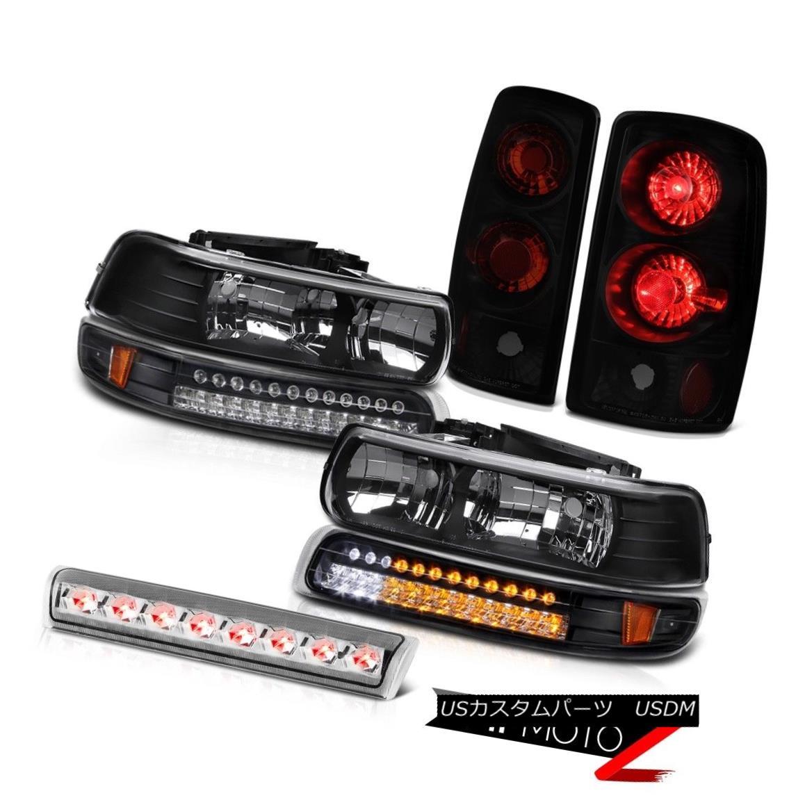 ヘッドライト Pair Black Headlamp SMD Parking Brake Tail Lamps Euro Third LED 00-06 Tahoe 4.8L ペアブラックヘッドランプSMDパーキングブレーキテールランプユーロサードLED 00-06タホ4.8L