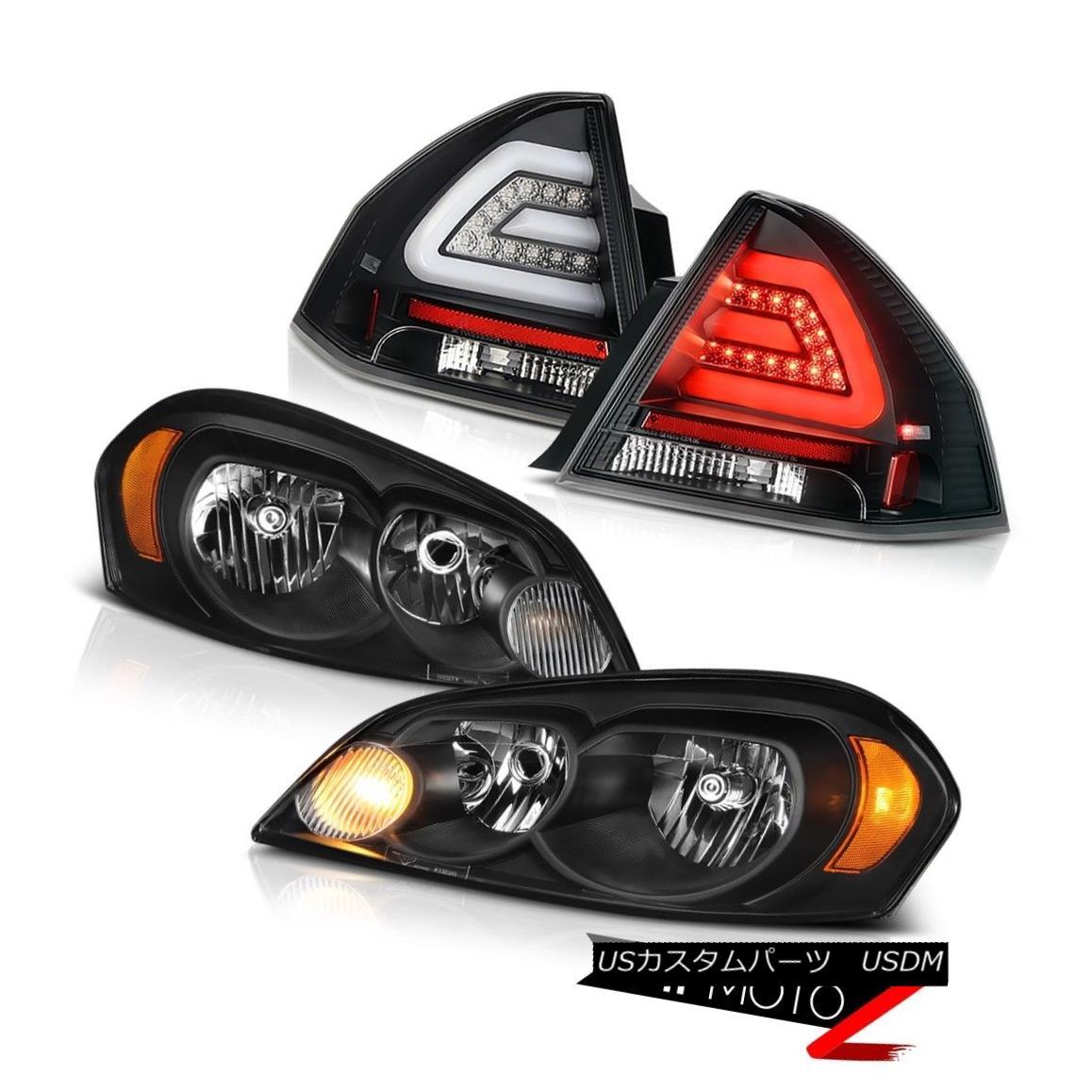ヘッドライト 2006-2013 CHEVY IMPALA LTZ Raven black rear brake lamps headlights LED OE Style 2006-2013 CHEVY IMPALA LTZ RavenブラックリアブレーキランプヘッドライトLED OEスタイル