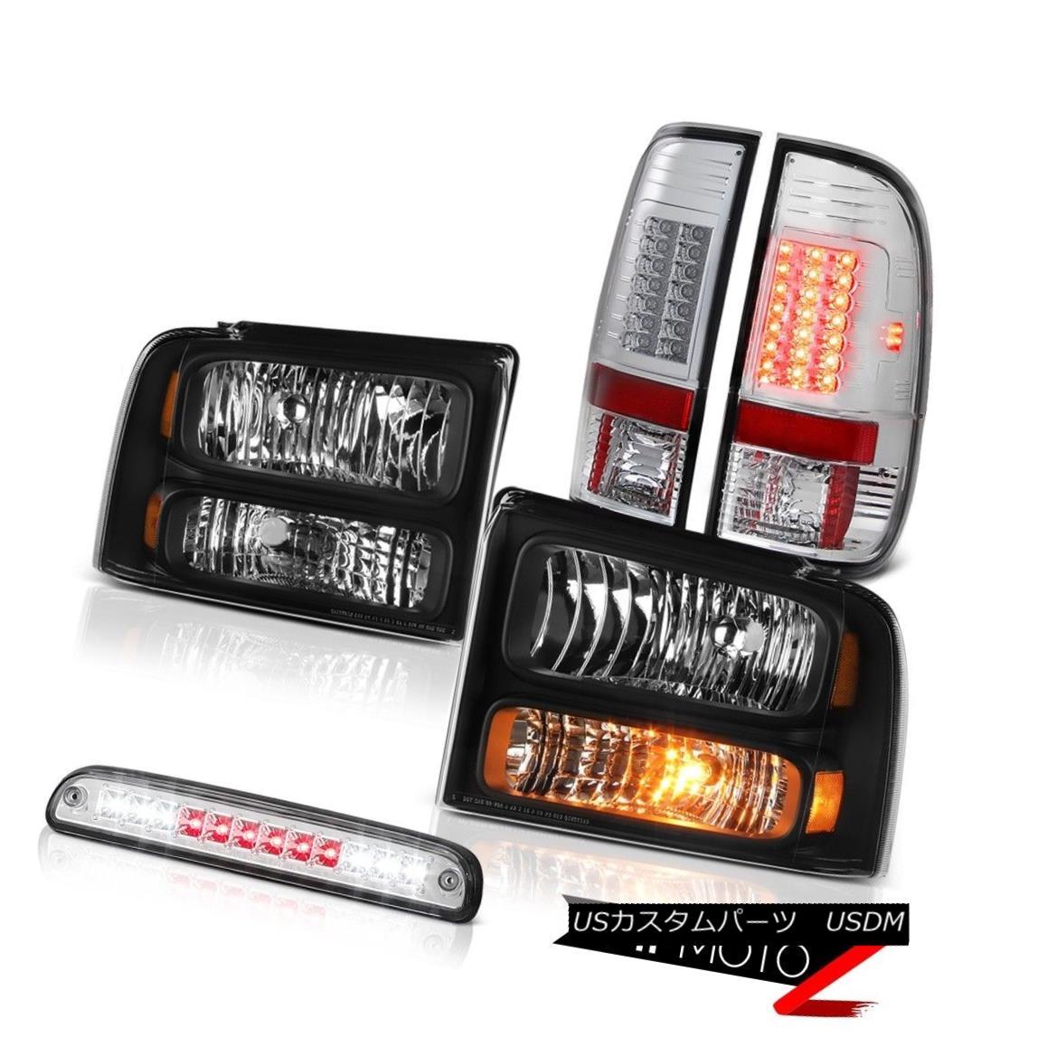 ヘッドライト 2005 2006 2007 F250 Turbo Diesel Clear/Black Headlight LED Taillamps Roof Brake 2005 2006 2007 F250ターボディーゼルクリア/ブラックヘッドライトLEDタイルランプルーフブレーキ