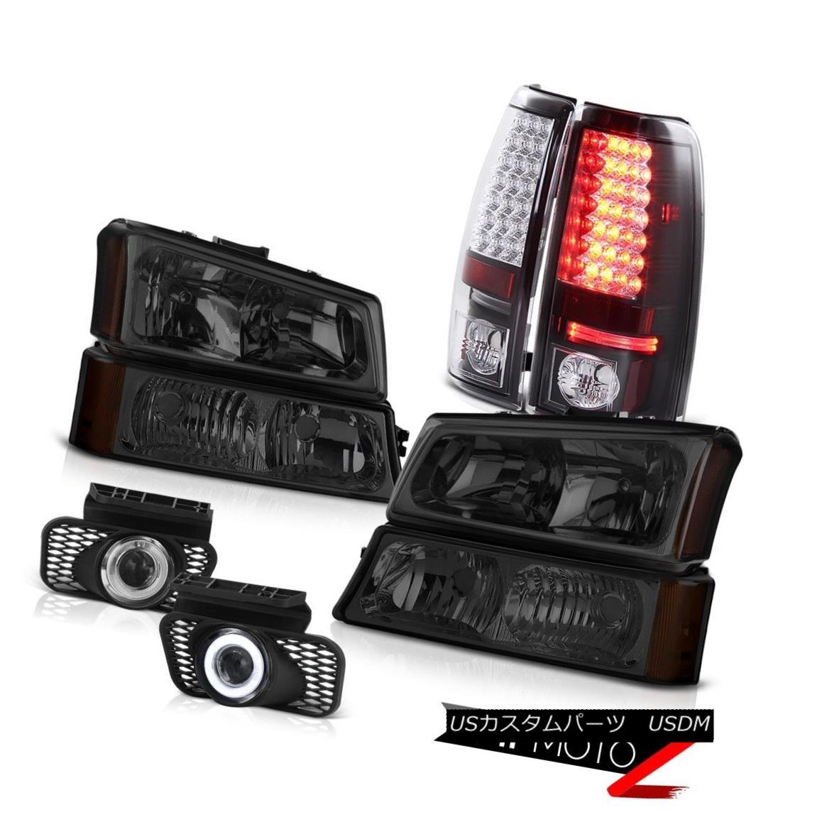 ヘッドライト Pair Headlamps Bumper Signal LED Black Tail Light Clear Foglight 05 06 Silverado ペアヘッドランプバンパーシグナルLEDブラックテールライトクリアフォグライト05 06シルバラード