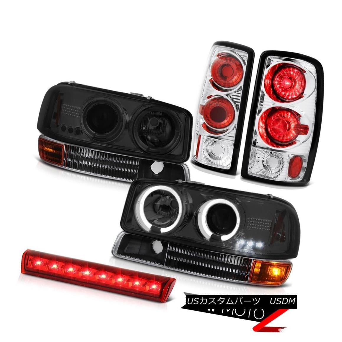 ヘッドライト 2000-2006 Yukon XL 5.3L Tinted Halo LED Headlights Onyx Black Tail Lights Cargo 2000-2006 Yukon XL 5.3LハイライトLEDヘッドライトオニキスブラックテールライトカーゴ