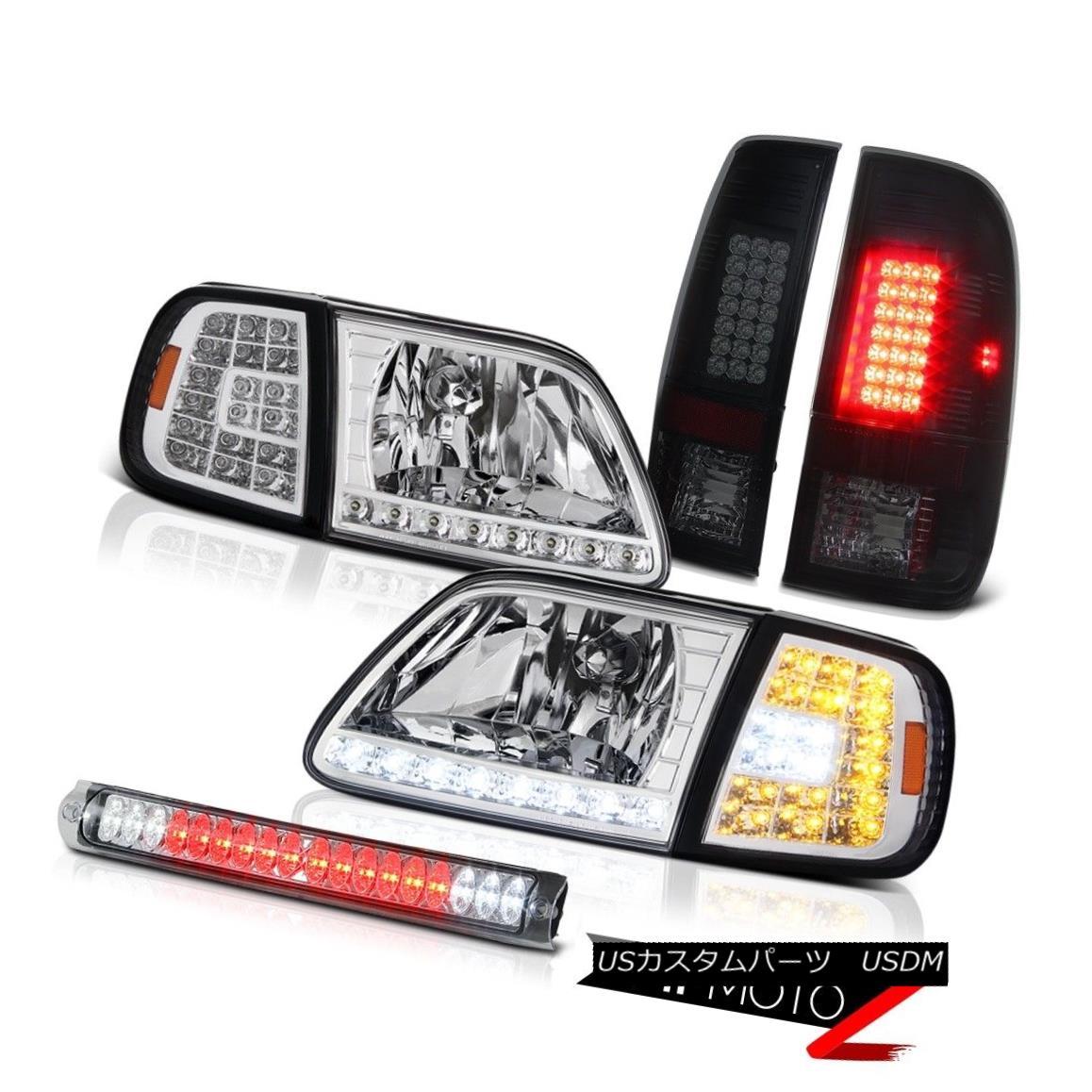 ヘッドライト 97-03 F150 King Ranch LED Signal Headlamps Sinister Black Tail Light Roof Brake 97-03 F150キングランチLED信号ヘッドランプ不快なブラックテールライトルーフブレーキ