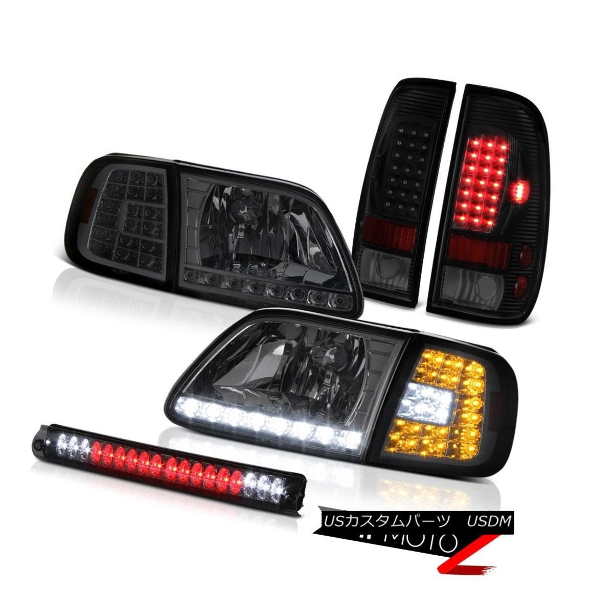 ヘッドライト 1997-2003 F150 Xl Headlights Roof Brake Lamp Sinister Black Tail Lights LED SMD 1997-2003 F150 Xlヘッドライトルーフブレーキランプ不快な黒テールライトLED SMD