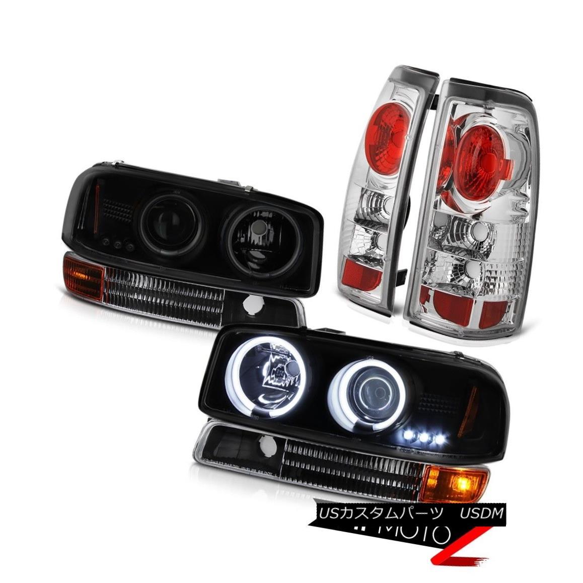 ヘッドライト 1999-2003 Sierra CCFL Smoke Black Angel Eye Headlamps Signal Altezza Tail Lights 1999-2003シエラCCFLスモークブラックエンジェルアイヘッドランプSignal Altezzaテールライト