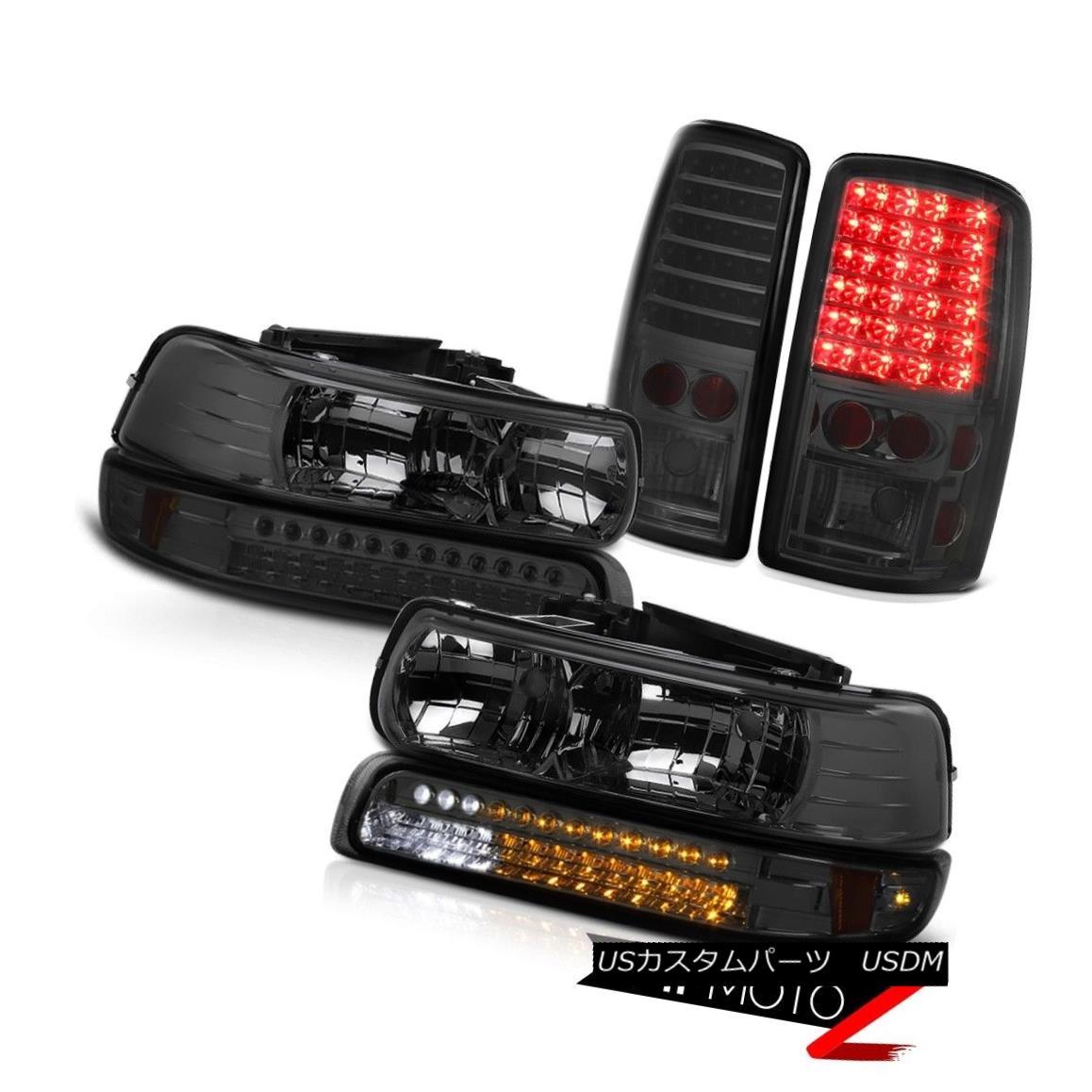 ヘッドライト 00 01 02 03 04 05 06 Chevy Suburban PAIR Smoke Headlights LED Turn Tail Lights 00 01 02 03 04 05 06シボレー郊外PAIRスモークヘッドライトLEDターンテールライト