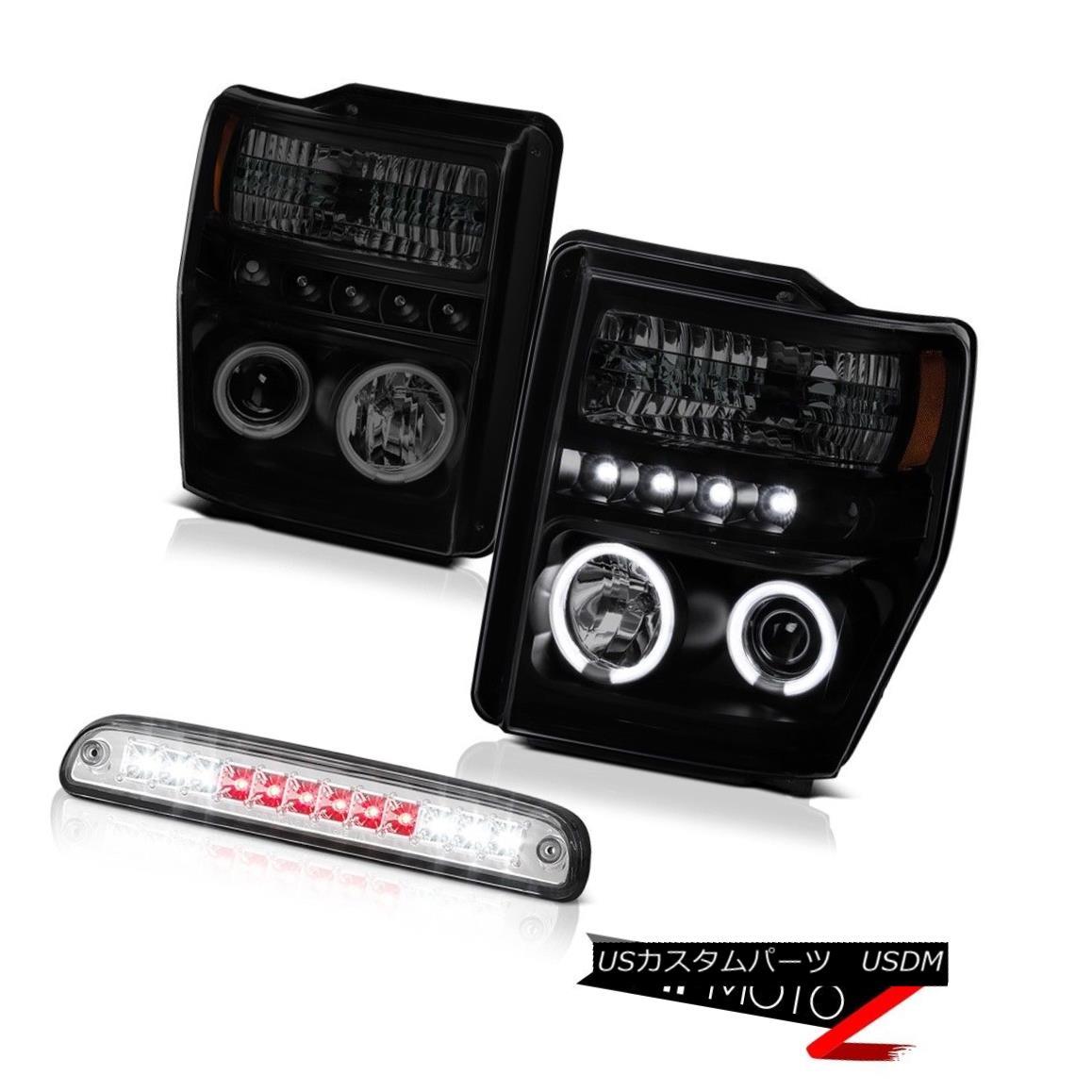 ヘッドライト 08 09 10 Ford F250 F350 SD CCFL Halo Ring LED DRL Headlight High Stop LED Chrome 08 09 10フォードF250 F350 SD CCFLハローリングLED DRLヘッドライトハイストップLEDクローム