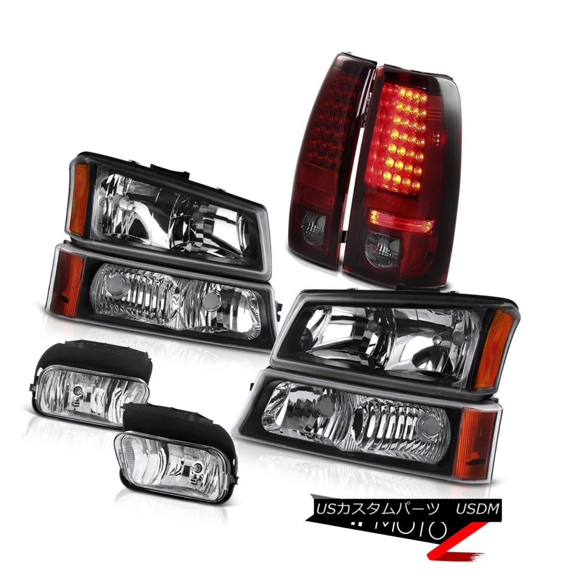 ヘッドライト 03-06 Chevy Silverado Black Signal Parking Lamp BRIGHTEST LED Tail Light Foglamp 03-06 Chevy SilveradoブラックシグナルランプパーライトBRIGHTEST LEDテールライトFoglamp