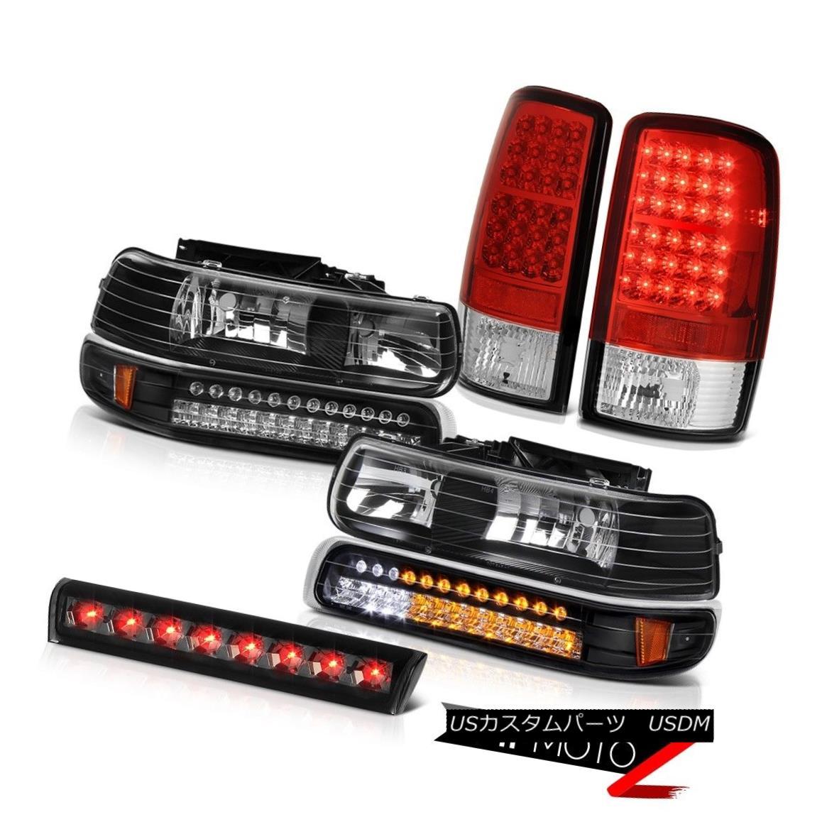 ヘッドライト 00-06 Tahoe LS LED Crystal Bumper Headlights Red Tail Lights High Brake Cargo 00-06タホLS LEDクリスタルバンパーヘッドライトレッドテールライトハイブレーキ貨物