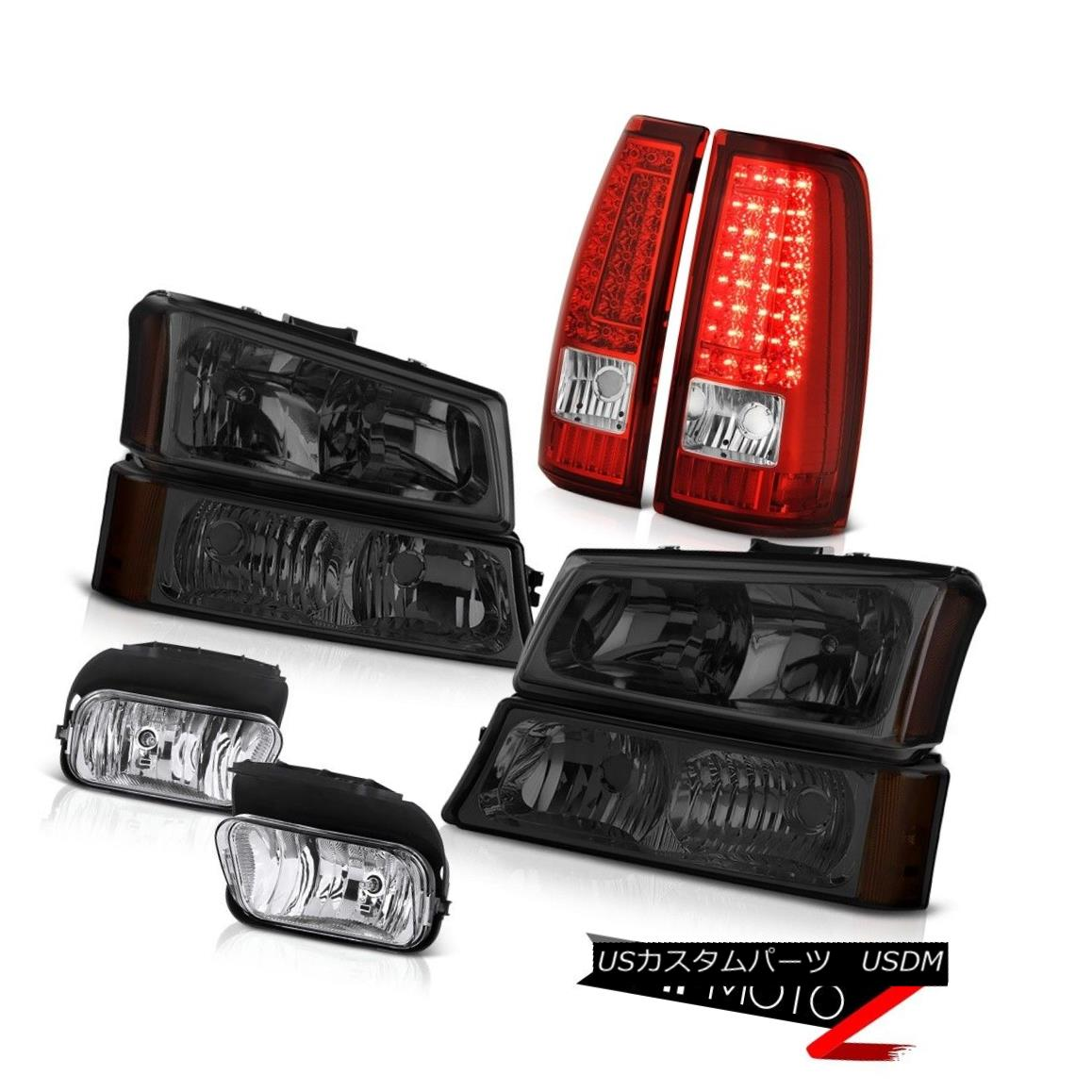ヘッドライト 03-06 Silverado Euro Chrome Foglights Tail Lights Smoked Parking Light Headlamps 03-06 Silverado Euro Chrome Foglightsテールライトスモークパーキングライトヘッドランプ