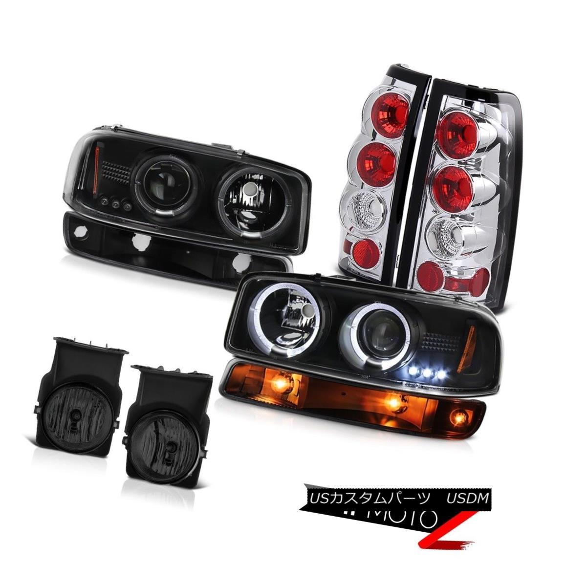 ヘッドライト 03-06 Sierra 5.3L Smoked foglights chrome tail lights parking light headlamps 03-06シエラ5.3Lスモークフォグライトクロームテールライトパーキングライトヘッドランプ