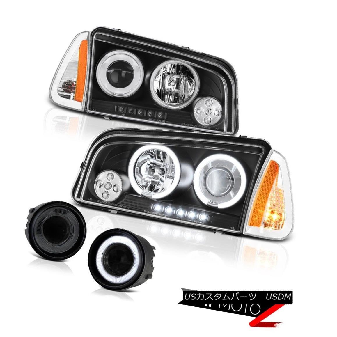 ヘッドライト 06-08 Dodge Charger SXT Fog lamps parking lamp inky black projector headlights 06-08ダッジチャージャーSXTフォグランプパーキングランプインキーブラックプロジェクターヘッドライト