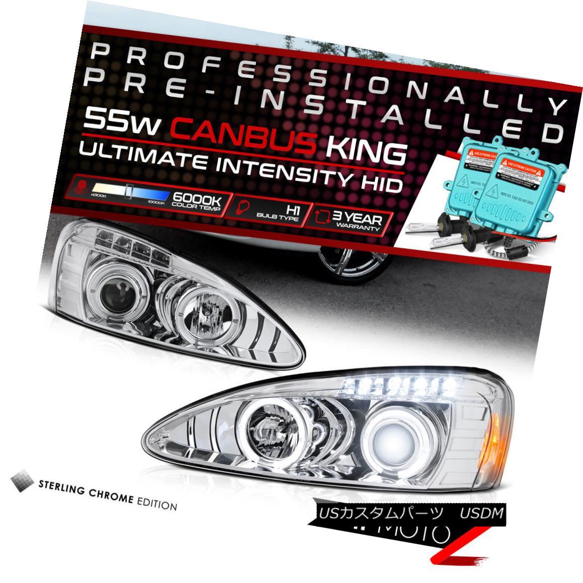 ヘッドライト !55W HID Built-In! 04-08 Pontiac Grand Prix Chrome Dual Halo Projector Headlight !55W HID内蔵! 04-08ポンティアックグランプリクロムデュアルヘイロープロジェクターヘッドライト