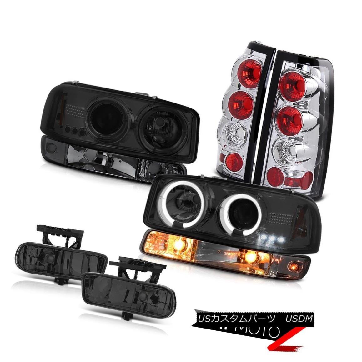 ヘッドライト 99-02 Sierra 6.6L Titanium smoke fog lights tail brake bumper light Headlights 99-02シエラ6.6Lチタン煙霧ライトテールブレーキバンパーライトヘッドライト
