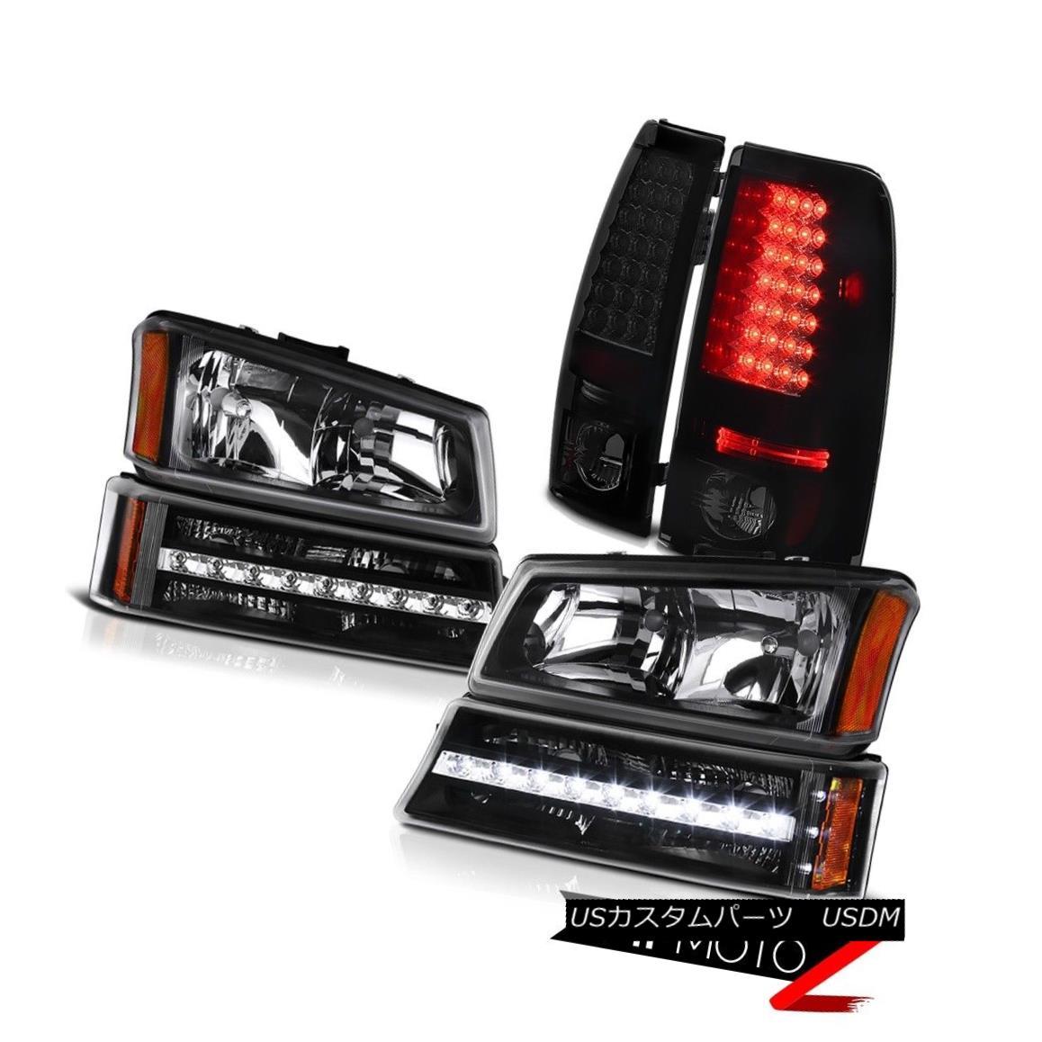 ヘッドライト 03 04 05 06 Silverado 1500 Dark tinted rear brake lights turn signal headlamps 03 04 05 06 Silverado 1500暗い色の後部ブレーキライトが信号ヘッドランプを回す