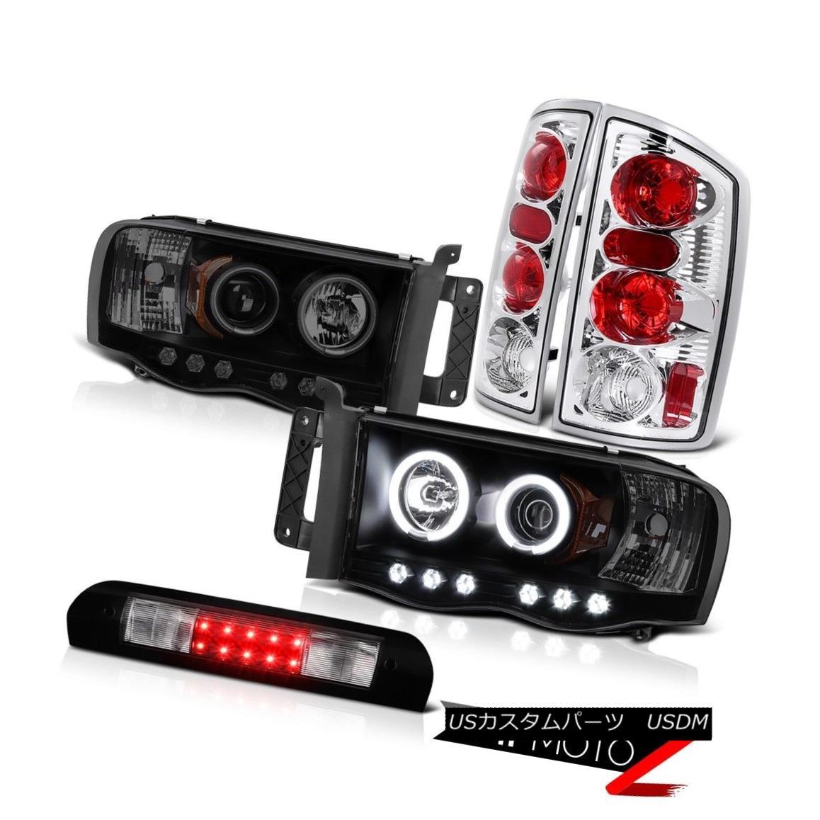 ヘッドライト BRIGHT CCFL Rim Headlight Reverse Brake Lamps High Stop LED Black 02-05 Ram 1500 BRIGHT CCFLリムヘッドライトリバースブレーキランプハイストップLEDブラック02-05ラム1500