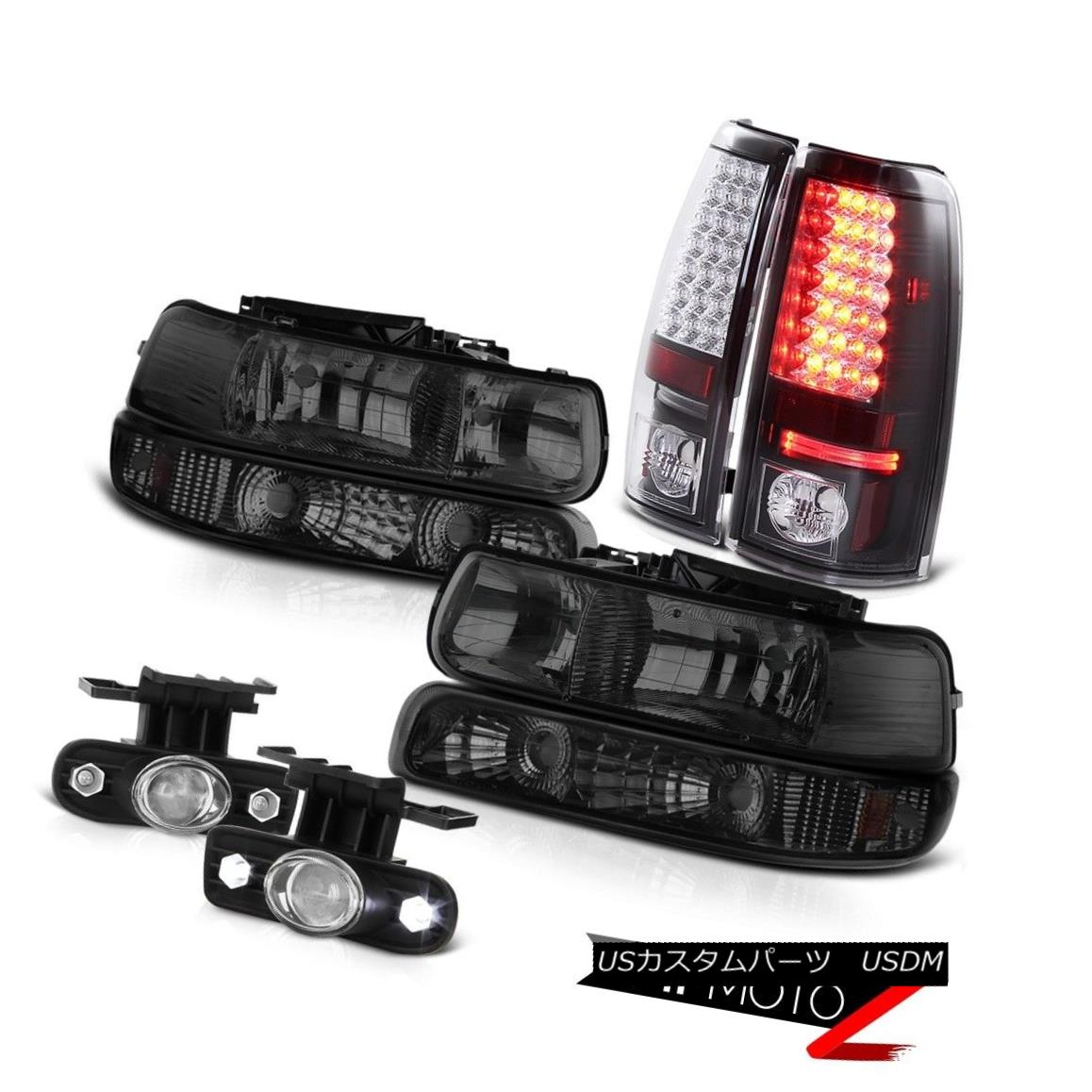 ヘッドライト 99-2002 Silverado lamps Headlights Lamp Brake Tail Lights Chrome Clear Foglights 99-2002 SilveradoランプヘッドライトランプブレーキテールライトChrome Clear Foglights