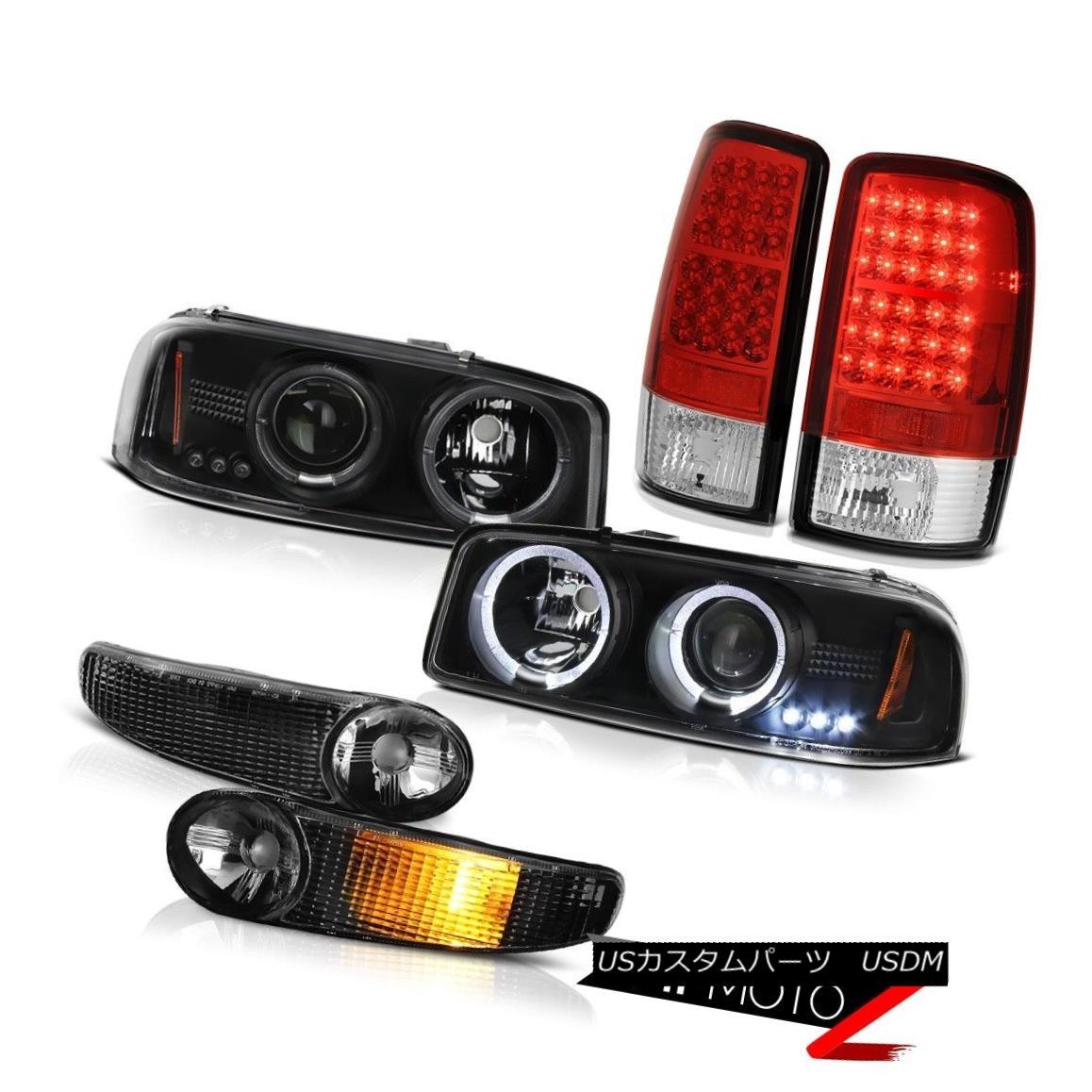 ヘッドライト Black LED SMD DRL Headlamps Parking Signal Bumper Tail Lights Chrome 00-06 Yukon ブラックLED SMD DRLヘッドランプパーキング信号バンパーテールライトクローム00-06ユーコン