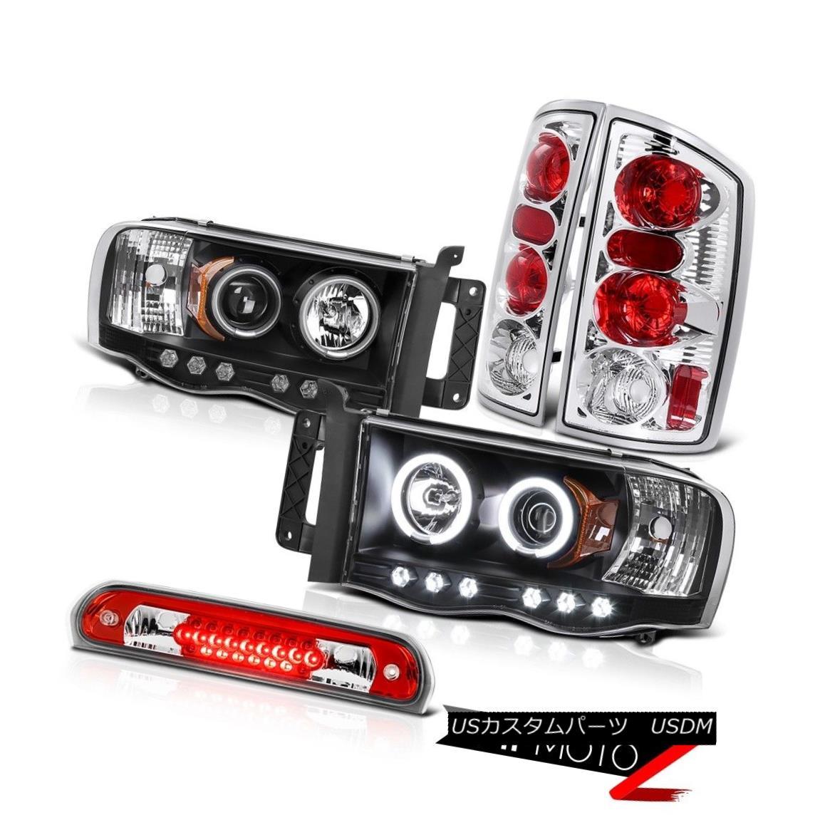 ヘッドライト Dual Halo CCFL Headlamps Clear Tail Light Roof Brake Cargo LED 02-05 Dodge Ram デュアルHalo CCFLヘッドランプクリアテールライトルーフブレーキカーゴLED 02-05 Dodge Ram
