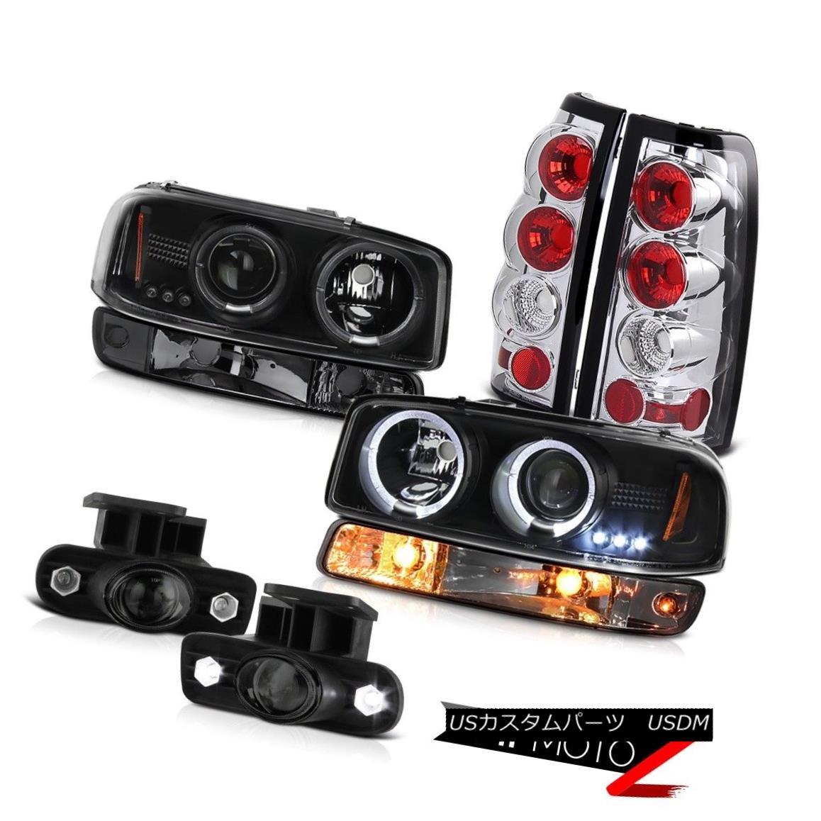 ヘッドライト 1999-2002 Sierra 2500 Graphite smoke foglights tail lamps bumper light headlamps 1999-2002 Sierra 2500黒鉛煙霧ランプテールランプバンパーライトヘッドライト