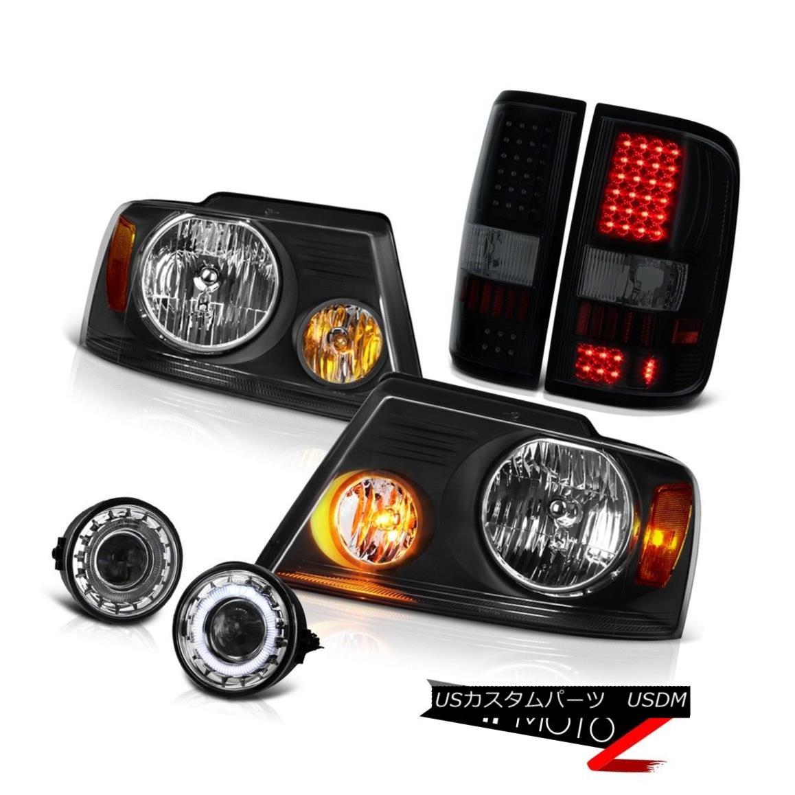 ヘッドライト 2006-2008 Ford F150 XL Chrome Fog Lamps Headlamps Rear Brake Lights Projector 2006-2008フォードF150 XLクロームフォグランプヘッドランプリアブレーキライトプロジェクター