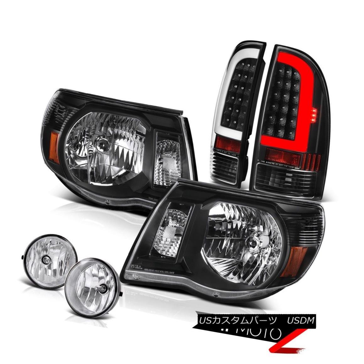 ヘッドライト 2005-2011 Toyota Tacoma Nighthawk Black Tail Head Lights Chrome Driving LH+RH 2005-2011トヨタタコマナイトホークブラックテールヘッドライトクロムドライビングLH + RH