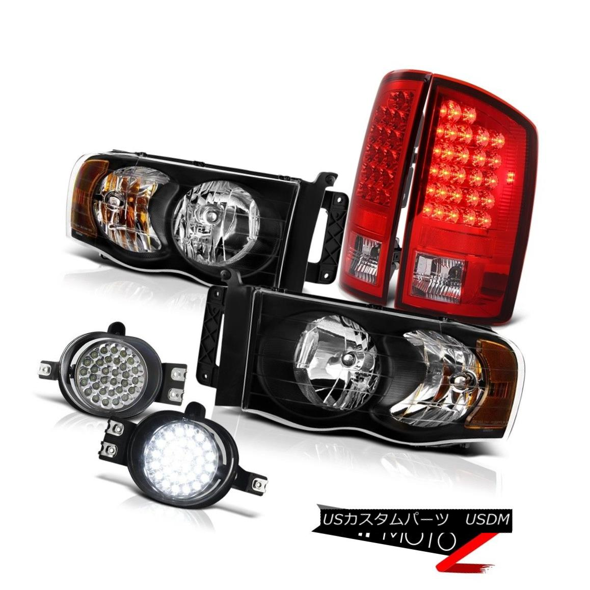 ヘッドライト 2002-05|Dodge Ram|BLK HeadLight CHROME RED LED TAIL LIGHT CHROME LED FOG LIGHT 2002-05 | Dodge Ram | BLKヘッドライトクロームレッドLEDテールライトクロームLED FOGライト