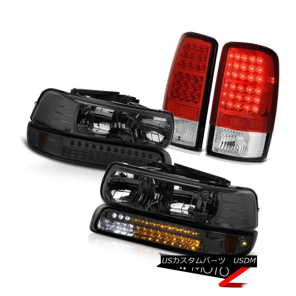 ヘッドライト PAIR Smoke Headlights LED Bumper Tail Lights 00 01 02 03 04 05 06 Suburban 6.0L PAIRスモークヘッドライトLEDバンパーテールライト00 01 02 03 04 05 06郊外の6.0L